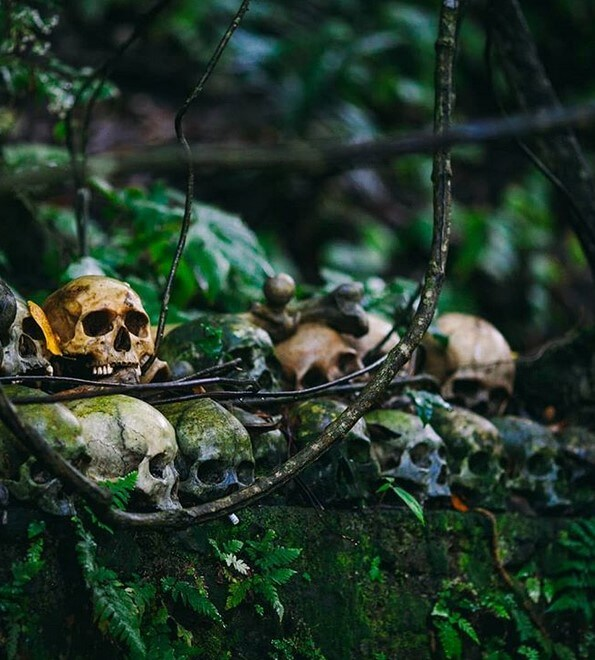 pemakaman desa trunyan, kintamani