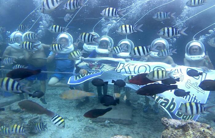 Aktivas Seru di Bali Seawalker Tanjung Benoa