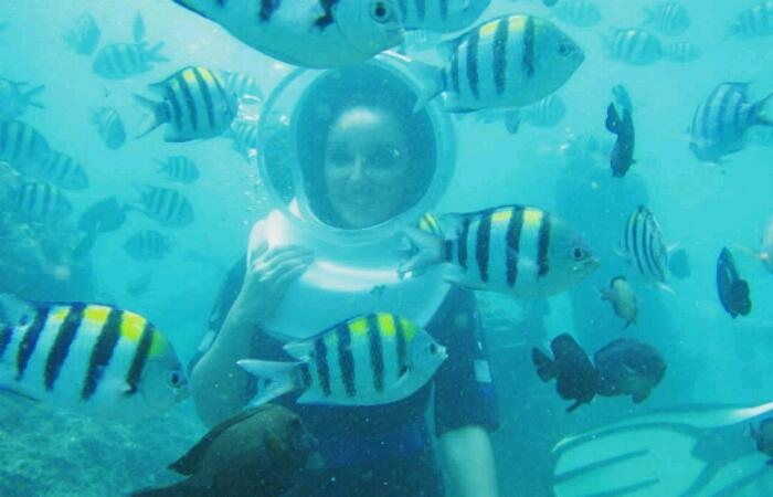 Serunya Bali Seawalker Tanjung Benoa
